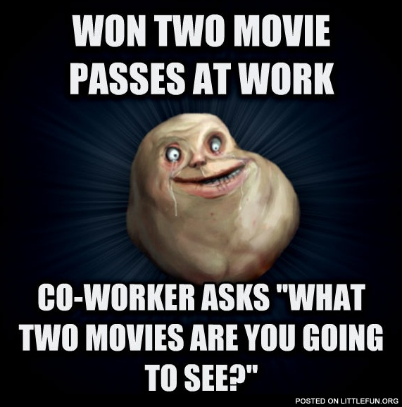 Won two movie passes at work
