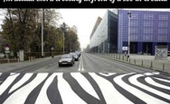 Zebra crossing in Croatia