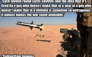 Each Javelin round costs $80000