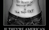50% of teenage girls think they are fat