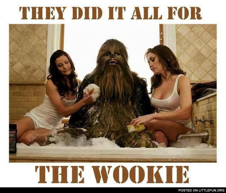 They did it all for the wookie