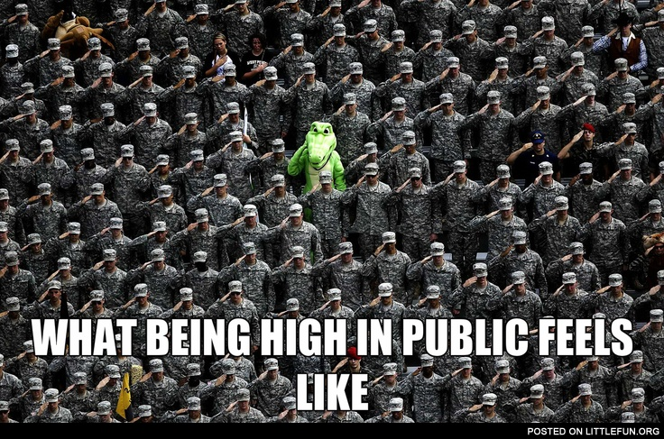 What being high in public feels like