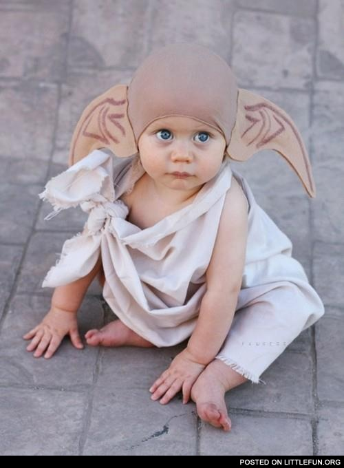 Baby in a Doby costume