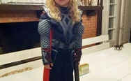 Little girl in a Thor costume