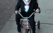 Wanna play a game? Awesome Halloween costume for the kid