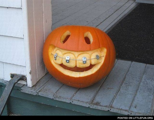 Pumpkin and braces
