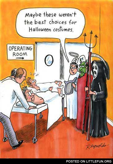 Halloween costumes at the hospital