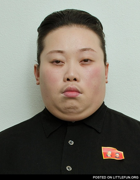 This guy dressed up as Kim Jong-un for Halloween