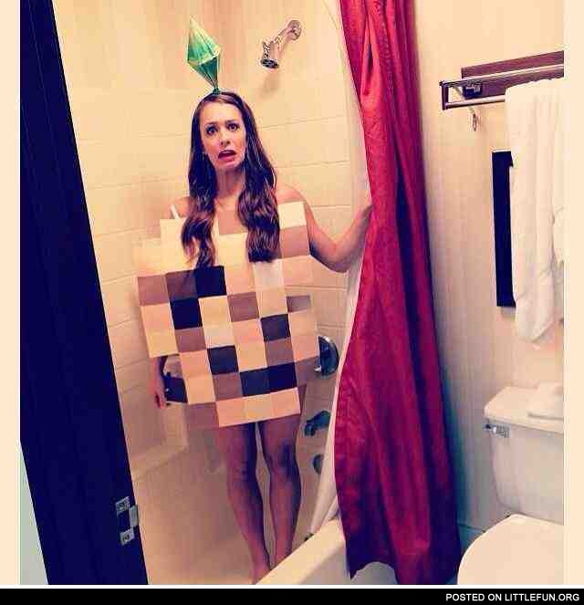 Best costume I've seen yet. Sims girl in the bath.