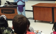 My physics professor dressed up for halloween as Skeletor