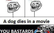 A dog dies in a movie