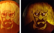 Breaking Bad pumpkin art