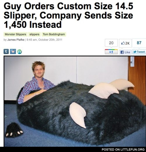 Giant monster slipper