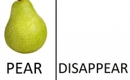 Pear disapear