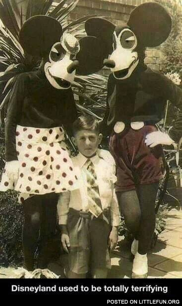 Disneyland used to be totally terrifying