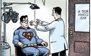 Superman with glasses