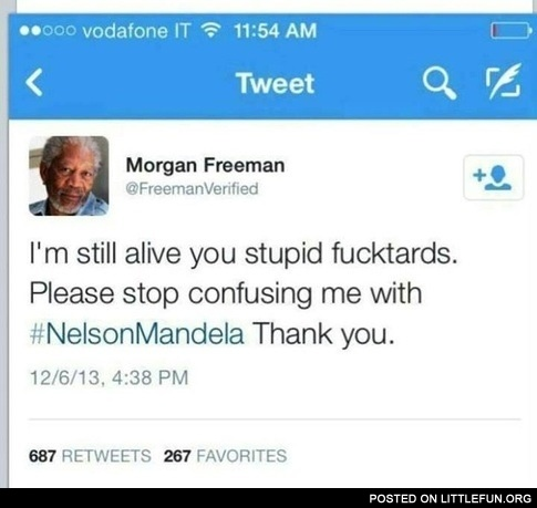 Morgan freeman is not Nelson Mandela