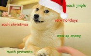 Much jingle. Such Christmas doge.
