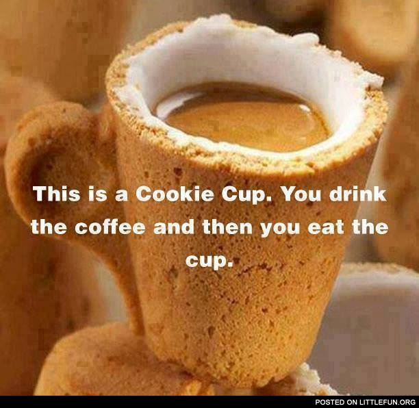 A cookie cup