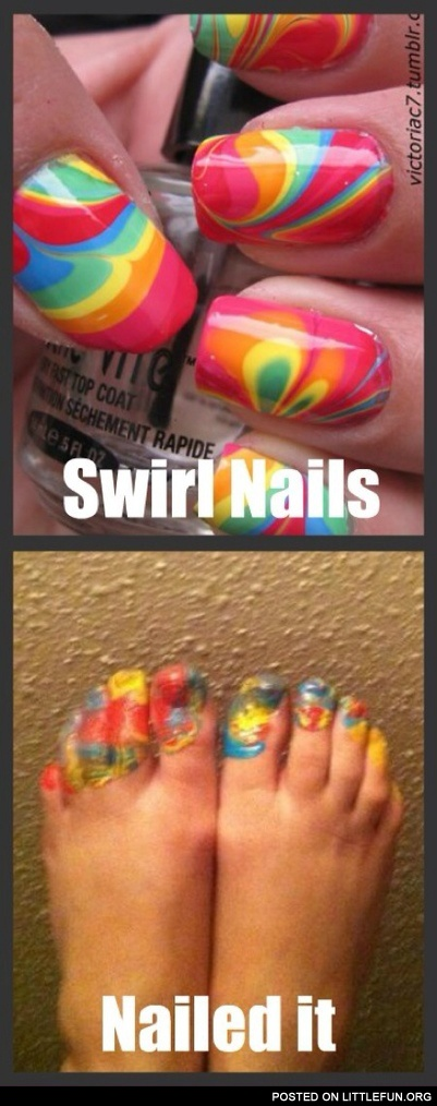 Swirl nails, naled it.
