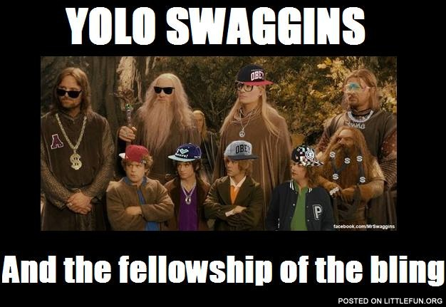 Yolo Swaggins and the Fellowship of the bling