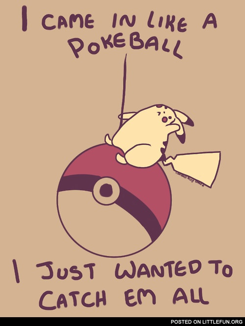 I came in like a pokeball
