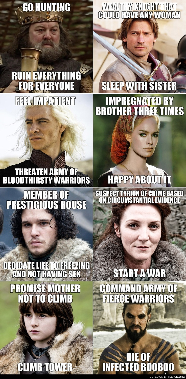 Short story of Game of Thrones