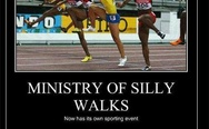 Ministry of silly walks. It's called Qwopping.