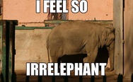 I feel so irrelephant.