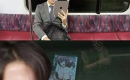 I see what you did there. A Japanese guy watching manga on iPad.