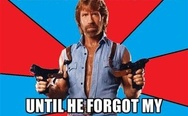 """Santa Claus was real until he forgot my present"" - Chuck Norris."