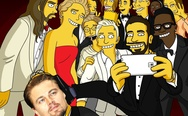 Simpsons Oscar selfie with Leonardo DiCaprio