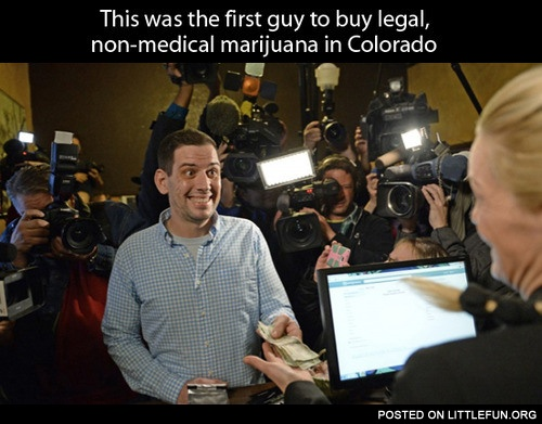 This was the first guy to buy legal, non-medical marijuana in Colorado.