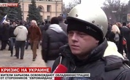 Leonardo Dicaprio spotted in the Ukrainian riots.
