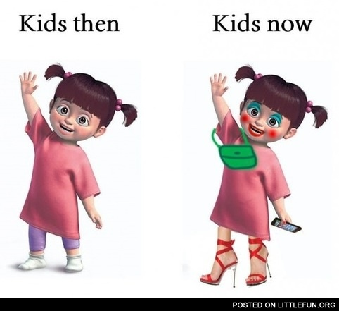 Kids then and kids now.