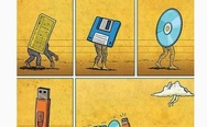 The evolution of data storage.