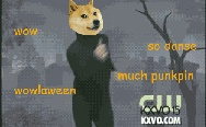 Dancing Halloween doge. So dance, much pumpkin.