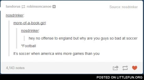 No offense to England, but why are you guys so bad at soccer?