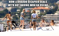 How Leonardo DiCaprio deals with not having won an Oscar.