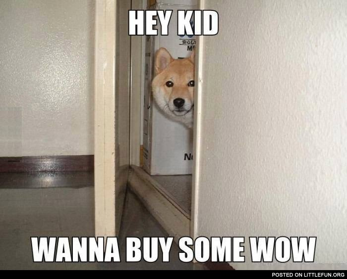 Hey kid, wanna buy some wow.