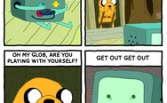 Bmo playing with himself.