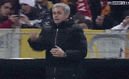 Mourinho playing piano.