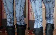 Cel shaded comic jeans.