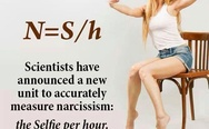 Scientists have announced a new unit to accurately measure narcissism: the Selfie per hour.