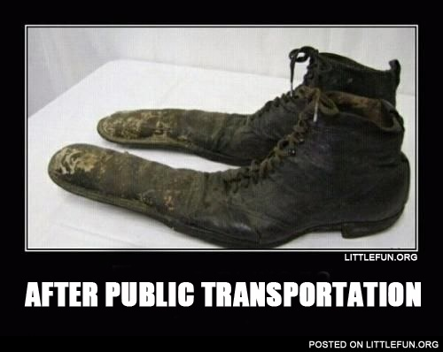 After public transportation.