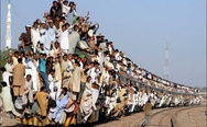 Meanwhile in Pakistan. Human train.