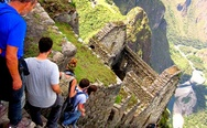 When you build the steps with your bricks. Machu Picchu stairs.