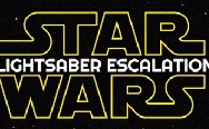 Star Wars lightsaber escalation.