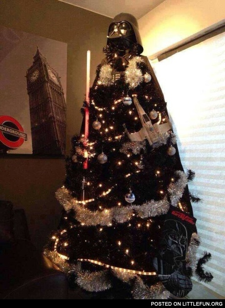 Darth Vader christmas tree.