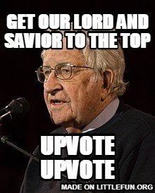 Get our lord and savior to the top, upvote upvote